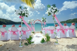 An ideal beach wedding setup